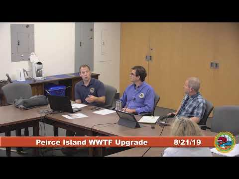 Peirce Island Waste Water Treatment Facility Upgrade 8.21.2019