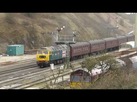 LMS 44871 & 45231 on the Buxton Spa Express 15th March 2014