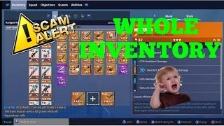 Scammer Gets Scammed For His Whole Inventory In Fortnite! (SAVE THE WORLD)