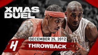 Kobe Bryant vs Carmelo Anthony INTENSE XMAS Duel Highlights - 34 Pts EACH! | December 25, 2012