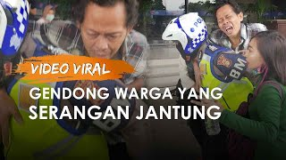 Viral Aksi Polisi Gendong ke Rumah Sakit Penumpang Transjakarta yang Terkena Serangan Jantung