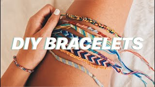 DIY: 4 EASY FRIENDSHIP BRACELETS | Jada Draper