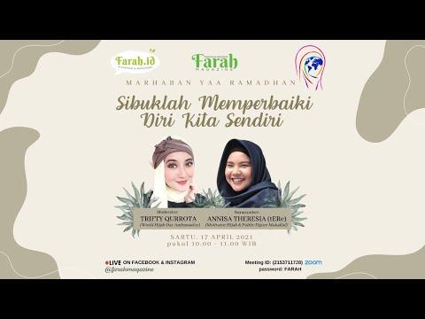 FARAH Zoomtalk Spesial Ramadhan • Sibuklah Memperbaiki Diri Sendiri