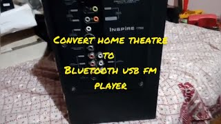 How To Convert Old Home Theatre To Bluetooth Mp3 Player