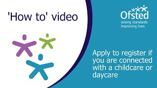 Apply To Register If You Are Connected With A Childcare Or Daycare