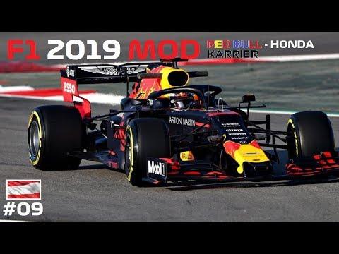 "A ""HAZAI"" NAGYDIJ? 🏁 F1 2019 MOD RedBull KARRIER 💣💥 9. futam: AUSZTRIA-SPIELBERG"