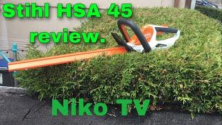 Stihl HSA 45 review/Vorstellung!! Taugt die Akku Heckenschere was??   Niko TV