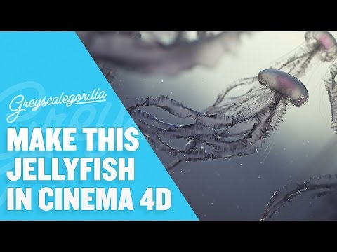 Cinema 4D Tutorial – Model, Texture, And Light A Jellyfish Scene
