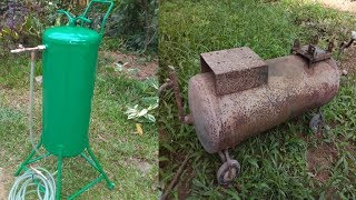 How to make Homemade Sand Blaster from old air Compressor tank | DIY Sand Blaster