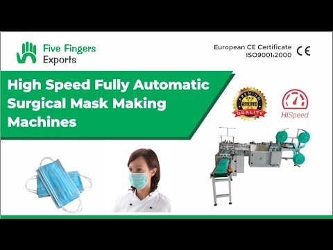Fully Automatic Face Mask Making Machine With Loop Fixing