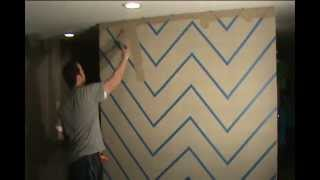 How To Easily Paint A Zig Zag Chevron Design On Your Wall
