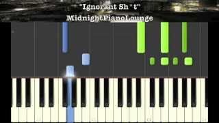 ♫ Ignant Shit by Drake feat Lil Wayne Piano Tutorial ( So Far Gone Mixtape ) In G Major ♫