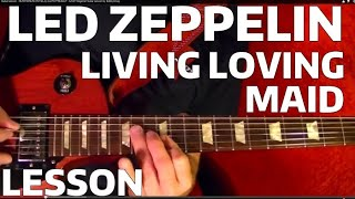 Led Zeppelin - Living Loving Maid ( With Solo ) - Guitar Lesson