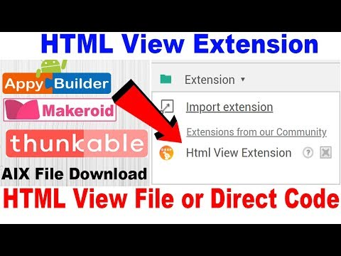 Makeroid WebView HTML Page Open Tutorial | AIA File