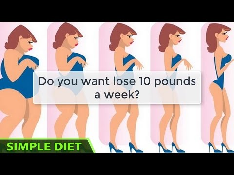Simple Diet - Meal plan: How to Lose 10 Pounds in One Week - EXTREMELY Simple and Effective #diet