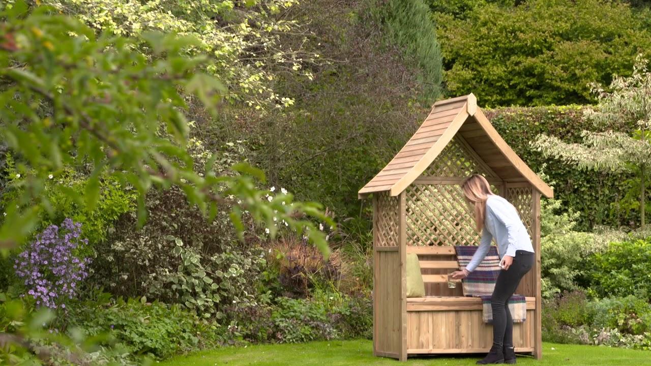 Nantillo Garden Arbour with Storage Box
