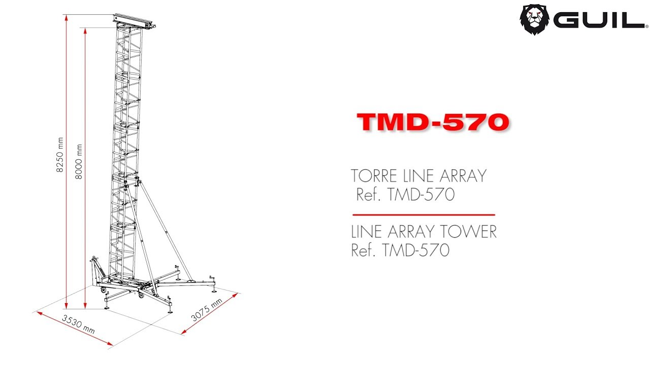 GUIL TMD-570 Line Array Tower