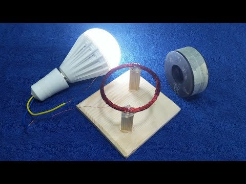 Free Energy Magnet Generator Diy Experiment Easy Make Electricity 100% Real Project