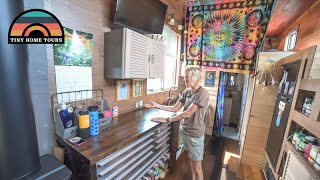 After Divorce She Built Her DIY TINY HOUSE To Start A NEW LIFE ON THE ROAD