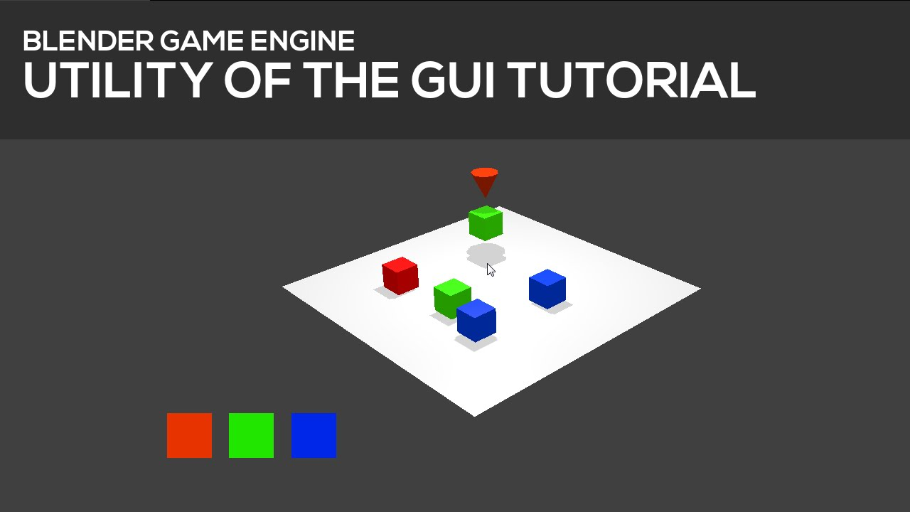 Basic Buttons for a GUI in Blender's Game Engine [Tutorial] 2/2