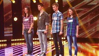 "The Tokens -  ""The lion sleeps tonight"". Vezi interpretarea trupei Maria, la X Factor!"