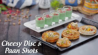 Cheesy Veg Discs And Refreshing Pan Shots Recipes