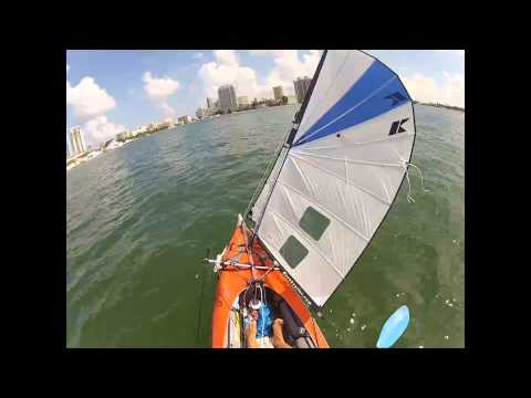 Upwind Kayak Sailing