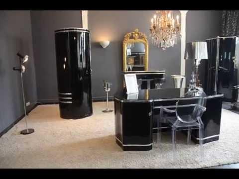 Art Deco Büro Einrichtung Luxus Schreibtisch Mauser Stil Tonnen Schrank 70er Bartresen Hausbar
