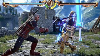 SOULCALIBUR 6 - Geralt of Rivia vs Siegfried & Epic Finish KAER MORHEN Stage (1080p 60fps) PS4 Pro