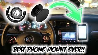 The BEST Car Phone Mount Money Can Buy!!! *Only $15* ( Pop Socket and Pop Clip!! )