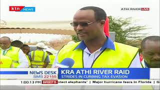 KRA officials raid Athi River, destroy counterfeit goods