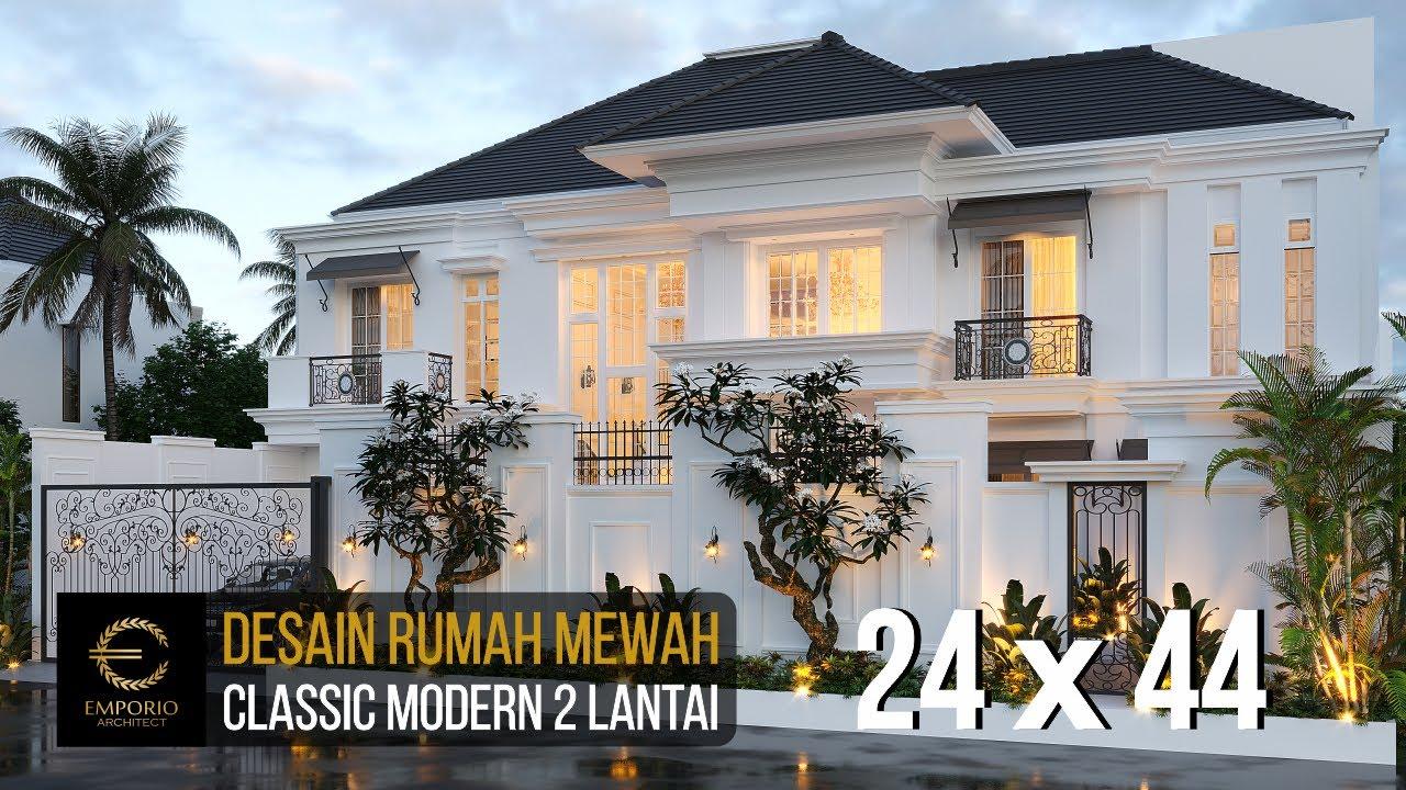 Video 3D Mrs. J Classic Modern House 2 Floors Design - Semarang, Jawa Tengah