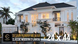 Video Desain Rumah Classic Modern 2 Lantai Ibu J di  Semarang, Jawa Tengah