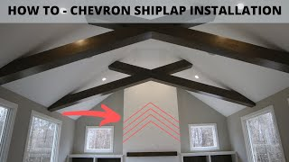Pro Tips & Techniques For A Chevron Shiplap Wall Installation - Chevron Pattern Fireplace Wrap
