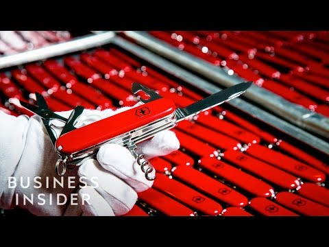 See how Swiss Army Knifes are made