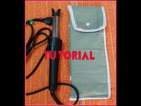 custodia porta piastra -ferro per capelli ( tutorial )