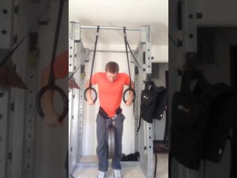 90lbs added ring dips