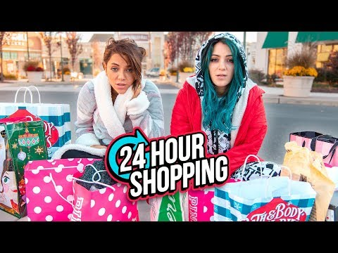 24 HOUR Shopping Challenge! Niki and Gabi