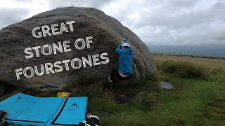 Great Stone Of Fourstones - A windy evening on the fells ! by Bouldering Noobs