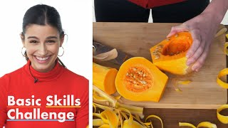 50 People Try to Peel and Chop a Butternut Squash | Epicurious