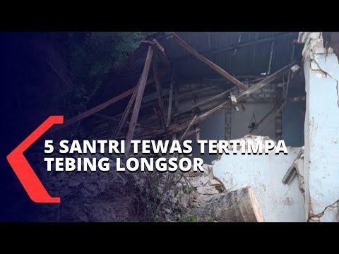 BPBD Segera Lakukan Evakuasi Pasca Tebing Setinggi 70 Meter Longsor dan Menimpa Pondok Pesantren