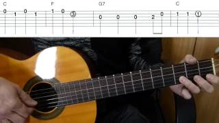 Чижик-пыжик на гитаре + табы
