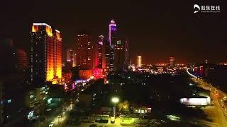 preview picture of video '烟台滨海广场灯光秀 Yantai China'