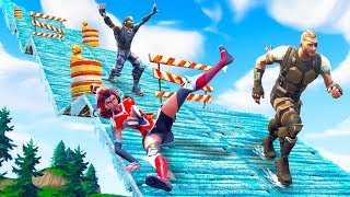 EXTREME Downhill Ice Derby Challenge! - Fortnite Battle Royale