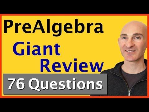 PreAlgebra Final Exam Giant Review