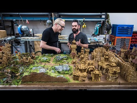 Adam visits Weta Workshops and gets to see the most amazingly modular tabletop world (and it will be released as 3D printable models!)