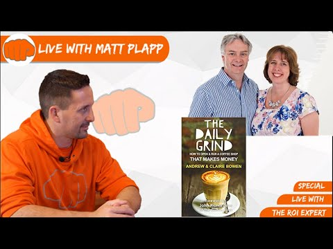 , title : 'Live With The Authors Of The Daily Grind - Andrew & Claire Bowen