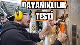 ÇELİK KAPIYA SAĞLAMLIK TESTİ YAPTIM!! (BALYOZ-FLEX-FORKLİFT)