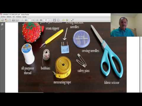 como aprender ingles -  Sewing Terms and Vocabulary - Vocabulario de Costura