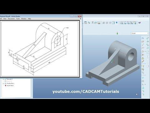 Pro Engineer Part Modeling Training Exercises for Beginners - 3 ...
